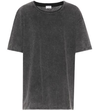 Laurent shirt Baumwolle Aus Saint Delave Saint Noir T Oversize Laurent wqHqE7Z