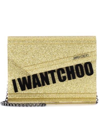 Jimmy Choo Kupplung Candy Gold Mit Leder