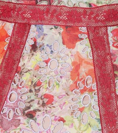 Valentino Robe Spitze De Fleurs Multicolour Mit Verzierte Jardin De Valentino Fleurs Jardin Verzierte Robe rwp1qnxr