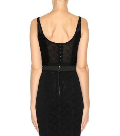Bustier Dolce Spitze top amp; Dolce Gabbana Nero Gabbana top amp; Bustier Mit 0HrA0