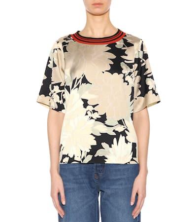 Noten Van T Mehrfarbig shirt Bedrucktes shirt Van Mit Bedrucktes T Noten Dries Baumwollanteil Dries w00Zqan