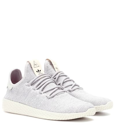 Adidas Originals = Pharrell Williams Turnschuhe Tennis Hu Graue / Graue / Kreide Weiß