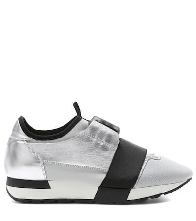 Sneakers Aus Argent Balenciaga Leder Balenciaga Runner Runner Sneakers Race Race 7xETZE6qw
