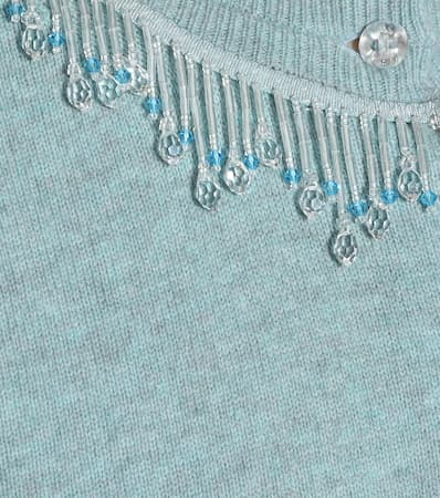 Marc Jacobs Cardigan Aus Wolle Und Cashmere Pale Blau Rabatt Angebot fS1LLSWDXO