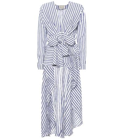 Grande Stripe Top Gestreiftes Johanna Rio Blau Leinen Aus Agave Ortiz IwfCqC6