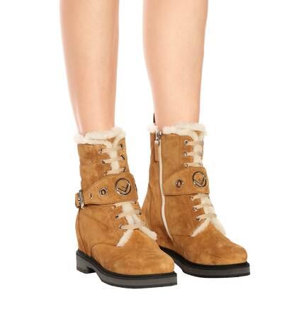 Fendi Boots Keilabsatz latte Fendi Ankle Toast Mit Ankle Boots Mit CqSnB1