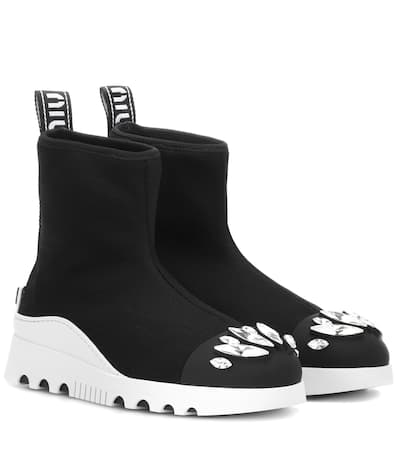 Miu Miu Verzierte Sock Boots Nero Vorbestellung Shop Günstigen Preis jT8hY