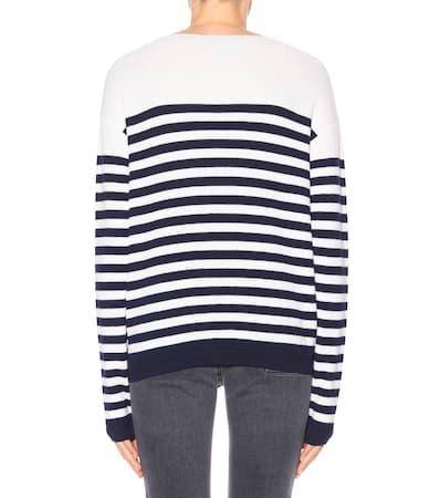 Gestreifter Jeans i Merinowolle Marine Pullover Cream Aus h M 6ZzyAgcR6