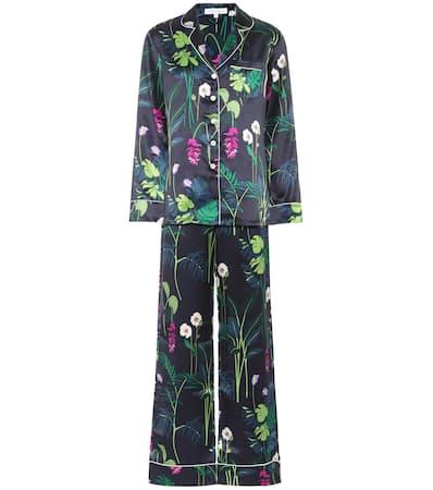 The Olivia Halle Von Gene Seide Lila Lila Pyjama set Gene Aus AxIPxgq7w