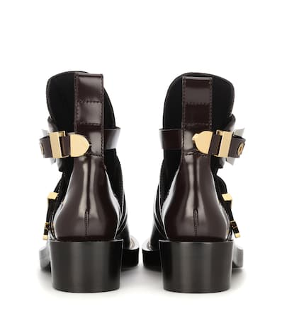 Günstig Kaufen Offiziellen Günstig Kaufen Für Schön Balenciaga Ankle Boots Ceinture Aus Leder Marron Ebene Versorgung Verkauf Online Rabatt 2018 Neue 1WAJLU