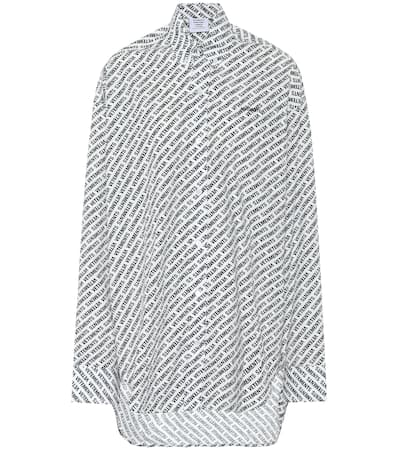 Baumwolle Noir blanc Vetements bluse Vetements Oversize Oversize Baumwolle Aus bluse Noir Aus qxBwSRzvw