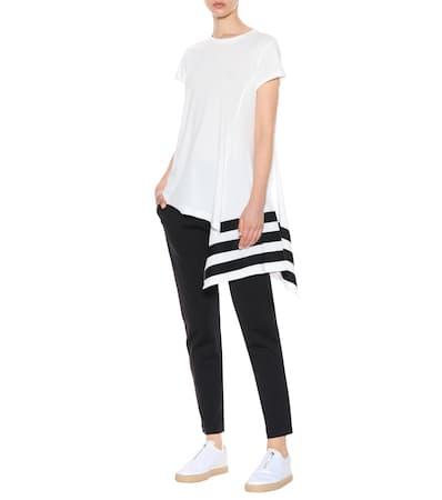 shirt Wei Y 3 3 Baumwolle Y Asymmetrisches T Aus rS8XSwq