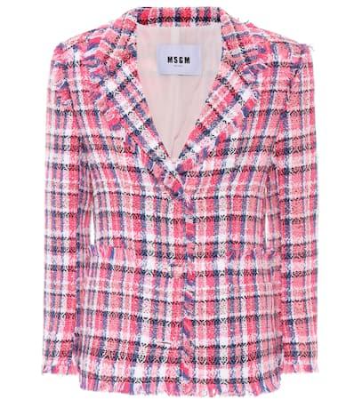 Msgm Blazer Aus Tweed Rosa / Mehrfarbig