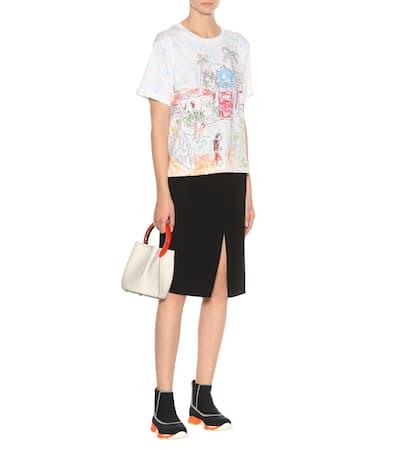 T T Bedrucktes Marni Aus Marni Baumwolle shirt Wei Bedrucktes fFUOqB