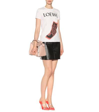 Aus Bedrucktes Baumwolle Loewe Loewe Rot shirt shirt Bedrucktes Schwarz T T qwSA0