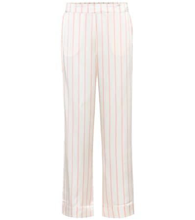 Aus Asceno Stripe Gestreifte Blush Pyjama hose Asceno Seide Gestreifte qU7wxSW5X