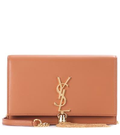 Saint Laurent Schultertasche Kate Tassel Aus Leder Brown Gold Räumungsverkauf Online Online Blättern OUXY6Ok