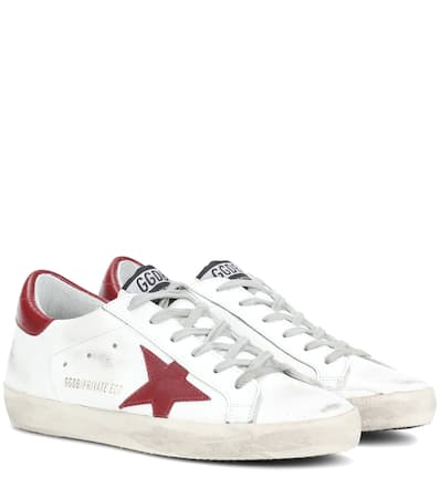 Leder Wei Superstar Sneakers Mytheresa Brand com Golden Goose 锟� Deluxe Aus Exklusiv Bei q7x7CPwp