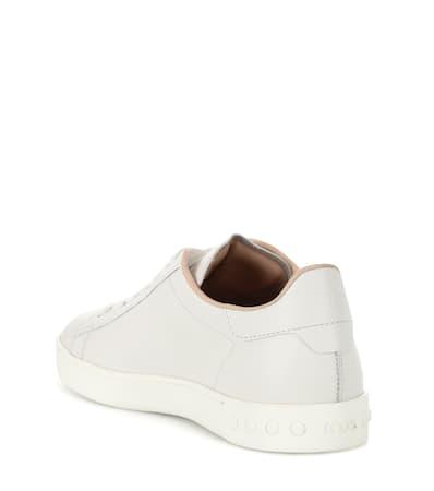 Leder Sneakers Aus Bianco Mit Nieten Tod's Sneakers Tod's 6IqnWISE