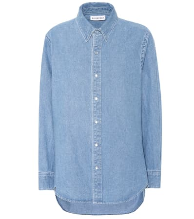 Balenciaga Vintage Blau Balenciaga Jeanshemd Vintage Aus Baumwolle Balenciaga Clear Blau Clear Jeanshemd Baumwolle Aus X051q