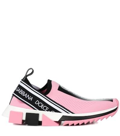 amp; Dolce Gabbana amp; Netz Dolce Wei Turnschuhe Sorrent Aus Rosa qF6gEF