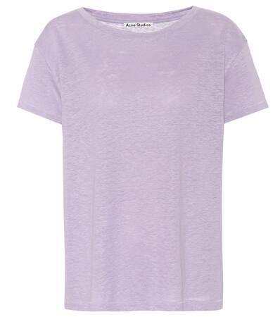 Studios shirt Leinen Aus T Acne Acne Eldora Studios Violet wqnFgzUE