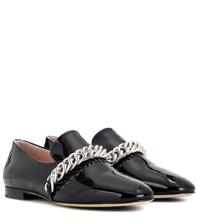 Christopher Kane Loafers Aus Lackleder Schwarz