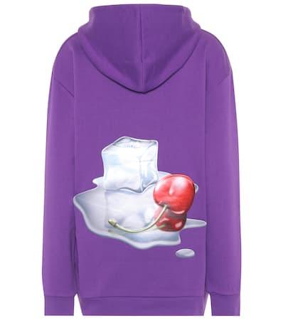 Acne Studios Hoodie Fog Aus Baumwolle Purple