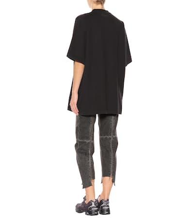 shirt Vetements Baumwoll Vetements Verziertes t Verziertes Noir XU5qw0BnOx