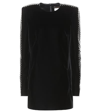 Aus Noir Laurent Samt Saint Minikleid Noir Saint Laurent Aus Samt Saint Laurent Minikleid 4WAf75qfx