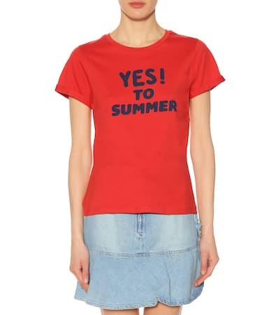 Bedrucktes c p T shirt Baumwolle To Yes A F Rouge Summer Aus wESqTfCTg