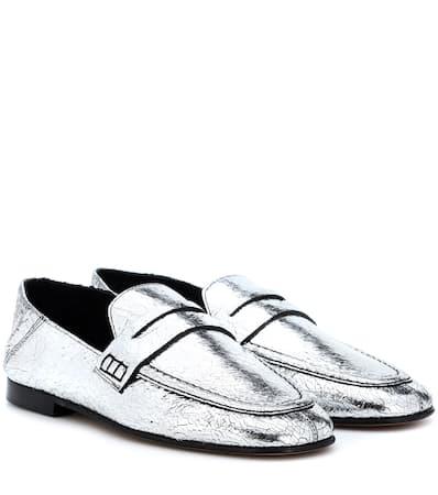 Isabel Marant Slippers Fezzy Aus Leder Silber Billig Rabatt Billig Rabatt Browse Sneakernews Verkauf Online Günstig Kaufen Sast g9VE4