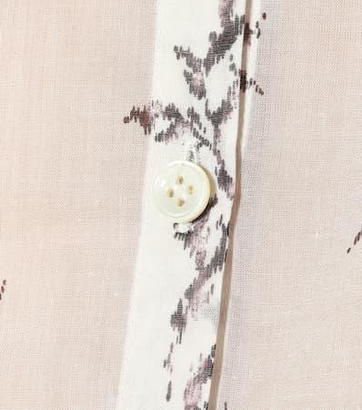 Saint Saint Baumwollbluse Laurent Ivory Schwarz Bedruckte Laurent Bedruckte Baumwollbluse fqREtSwS