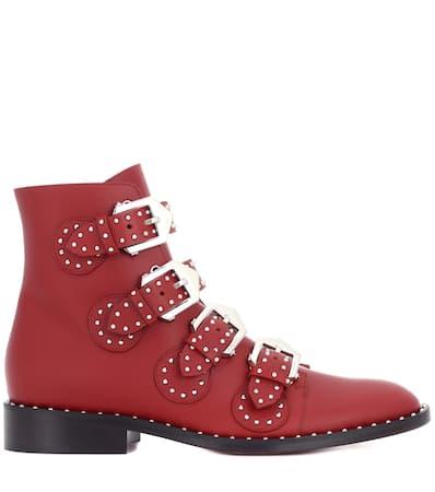 Givenchy Boots Leder Givenchy Aus Mit Mahogany Nieten Ankle Ankle w1qZdtZ