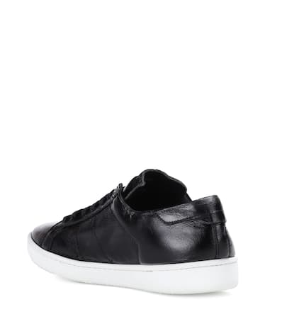 Saint Nero Laurent Leder Saint Laurent Aus Sneakers OvrwO8fq