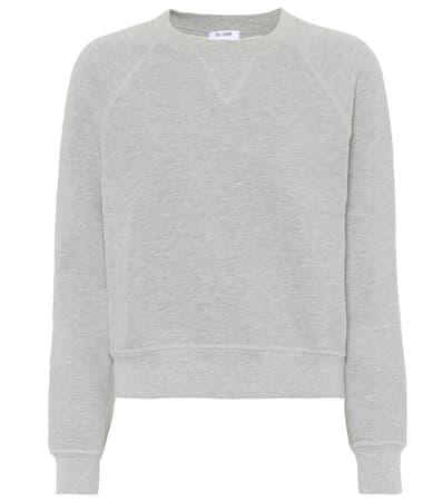 Sweatshirt Re done Re done Heather Baumwolle Sweatshirt Grey Aus SqIZR