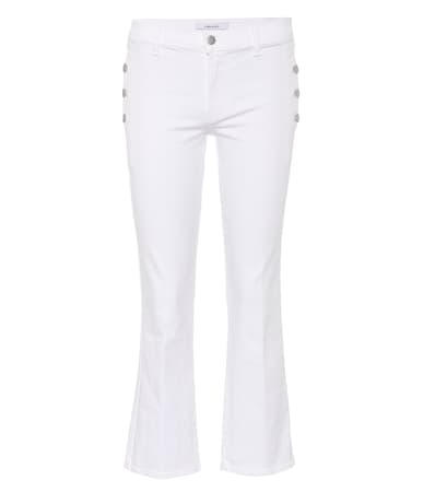 Brand J Brand Jeans Cropped Zian J Zian Baumwolle Cropped Blanc Aus Jeans Bootcut Bootcut FCYf4qCw