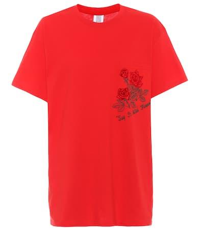 Assoulin shirt Rosie Assoulin Rosie Bedrucktes Aus T Rot Baumwolle wgqEXEz4W