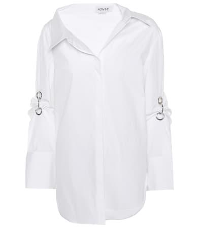 Monse Verziertes Aus Wei Hemd Aus Verziertes Baumwolle Monse Baumwolle Hemd fUBdxfr