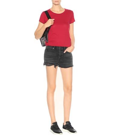 Velvet T-shirt Courtney Mit Baumwollanteil Hibiscus Rot Rabatt Niedrig Kosten 100% Original Online Auslass Ausgezeichnet Spielraum Top-Qualität Rabatt Amazon 8iRnUrmGgy