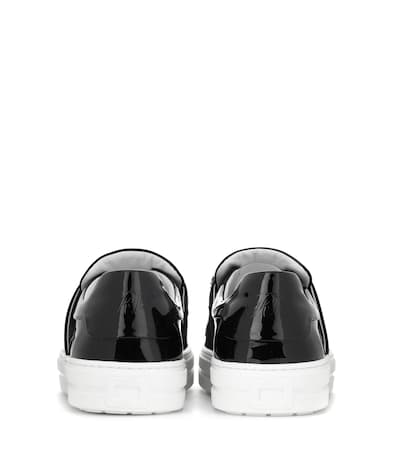 Roger Roger Viv' Lackleder Verzierte Schwarz Aus Vivier Vivier Sneaky Sneakers PrqwpP5
