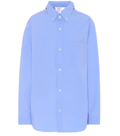 Vetements Baumwolle Vetements hemd Blau Oversize Aus Light Oversize T7pwgqp6