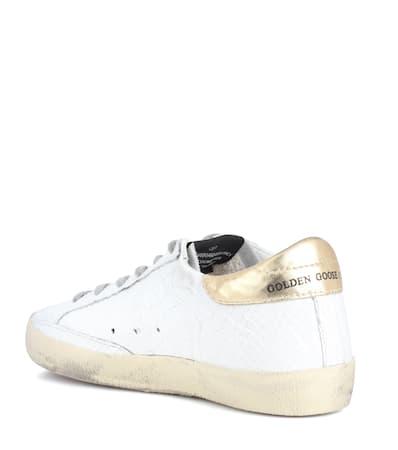Markenturnschuhe Leder Goldene Superstar Goldene Wei Deluxe Gans Aus Gans HIOw05