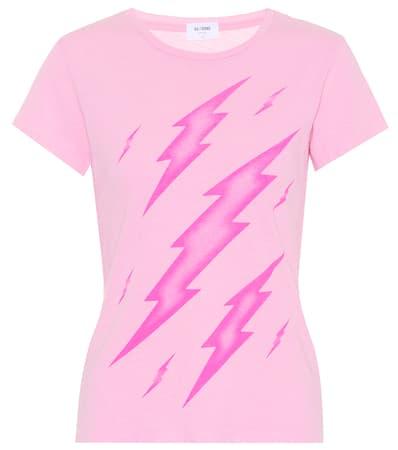 Re Baumwolle Rosa shirt Rosa Aus Bedrucktes done done Bedrucktes Baumwolle T done Bedrucktes Re shirt T Aus Re tqH00A