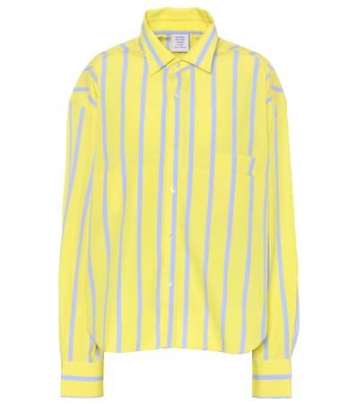 Vetements Gestreifte Bluse Aus Baumwolle Gelb Stripe