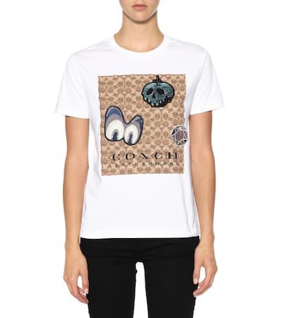 Coach X Disney® T-shirt Aus Baumwolle Weiß  Verkaufsschlager Hbgl6