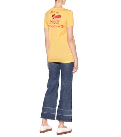Dolce & Gabbana Bedrucktes T-shirt Aus Baumwolle Lovers Giallo/ Gelb Wahl Angebote Günstig Online GsgXF0dKF