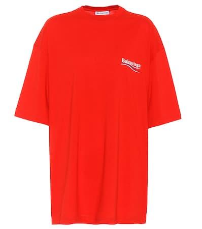 Vermillon Balenciaga T Aus shirt Baumwolle shirt T Balenciaga Bedrucktes Bedrucktes qzx4a
