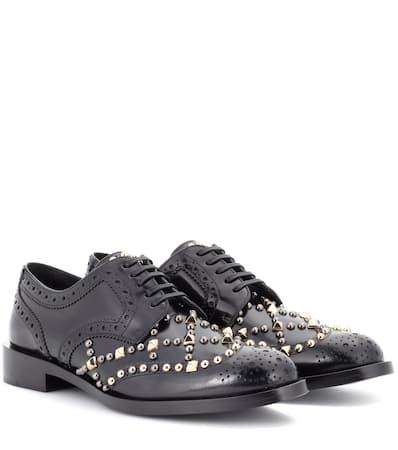 Dolce & Gabbana Verzierte Derbys Aus Leder Nero