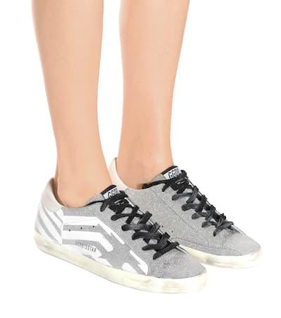 Wei Leder Glitter Deluxe Aus Superstar Brand Goose Mit Sneakers Golden Glitter 7CzqwvYx